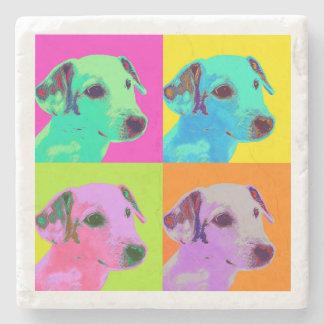 Posavasos De Piedra Perro, Jack Russels Terrier. Especie de pop diseño