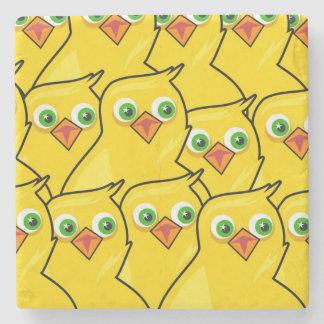 Posavasos De Piedra Pollos amarillos brillantes preciosos de Pascua