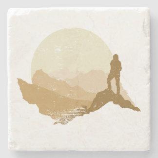 Posavasos De Piedra Práctico de costa al aire libre de la escalada de