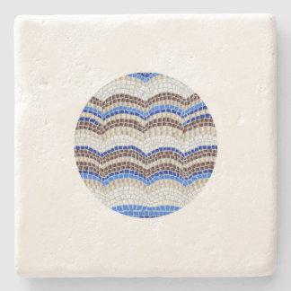 Posavasos De Piedra Práctico de costa azul redondo de la piedra caliza