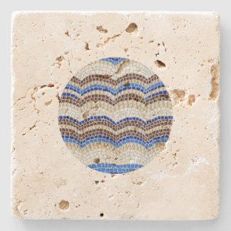 Posavasos De Piedra Práctico de costa azul redondo del travertino del