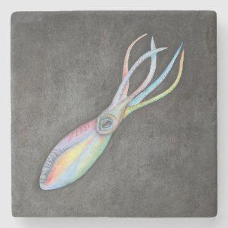 Posavasos De Piedra Práctico de costa de la piedra del calamar del