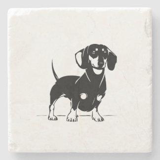 Posavasos De Piedra Práctico de costa de mármol del dachshund