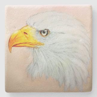 Posavasos De Piedra Práctico de costa de piedra blanco de Eagle,