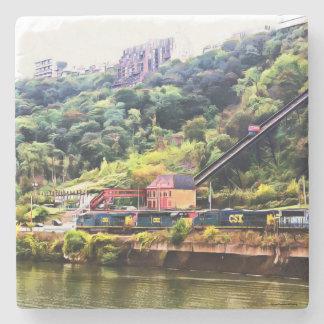 Posavasos De Piedra Práctico de costa de piedra de Pittsburgh