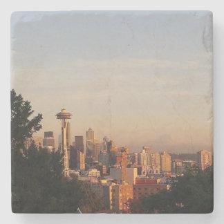 Posavasos De Piedra Práctico de costa del horizonte de Seattle