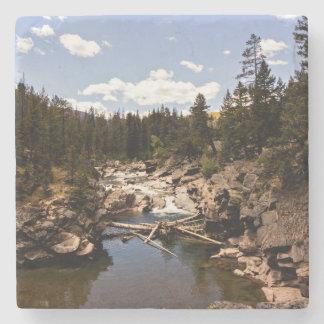 Posavasos De Piedra Práctico de costa del río de la montaña de Montana