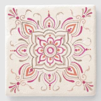 Posavasos De Piedra Práctico de costa floral delicado rosado del