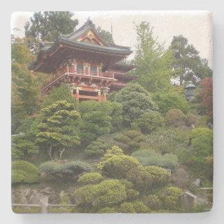 Posavasos De Piedra Práctico de costa japonés del jardín de té de San