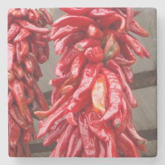 Posavasos De Piedra Práctico de costa rojo del chile