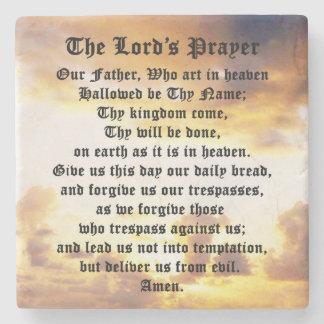 Posavasos De Piedra Prayer del señor, salida del sol, práctico de