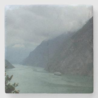 Posavasos De Piedra Río del chino de China del puente de barco