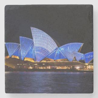 Posavasos De Piedra Teatro de la ópera de Australia Sydney en la noche