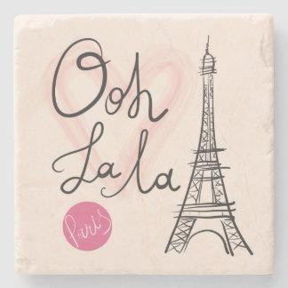 Posavasos De Piedra Torre Eiffel dibujada mano