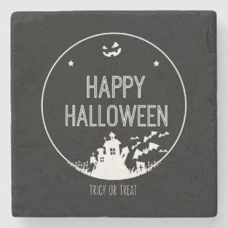 Posavasos De Piedra Truco o invitación del feliz Halloween