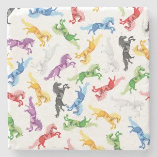 Posavasos De Piedra Unicornio coloreado del modelo