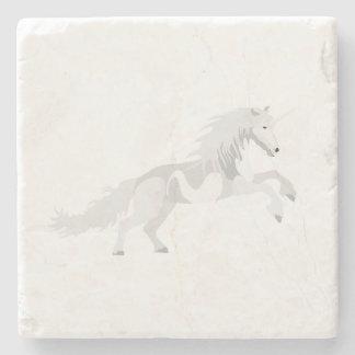 Posavasos De Piedra Unicornio del blanco del ejemplo