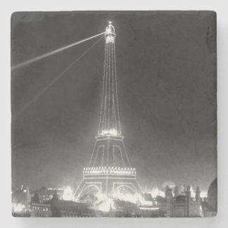 Posavasos De Piedra Vintage B&W de París Francia de la torre Eiffel