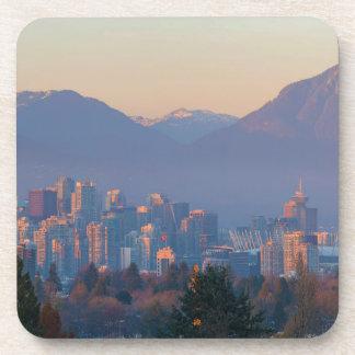 Posavasos De Vancouver paisaje urbano céntrico A.C. en el