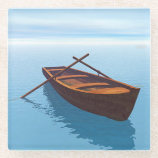 Posavasos De Vidrio Barco de madera - 3D rinden