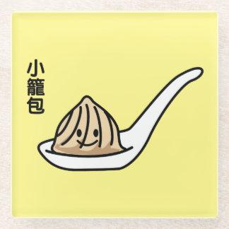 Posavasos De Vidrio Bollo chino de Dim Sum de la bola de masa hervida