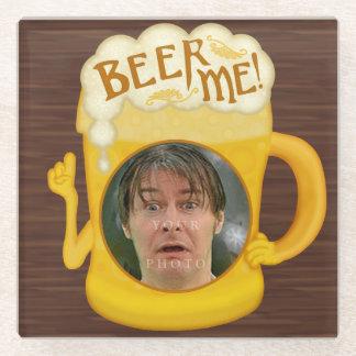 Posavasos De Vidrio Cerveza divertida yo foto personalizada el | de