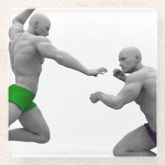 Posavasos De Vidrio Concepto de los artes marciales para luchar y la