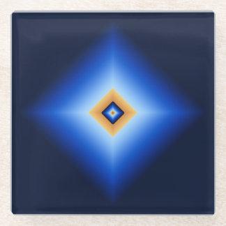Posavasos De Vidrio Diamante del azul y del moreno