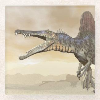 Posavasos De Vidrio Dinosaurio de Spinosaurus en el desierto - 3D