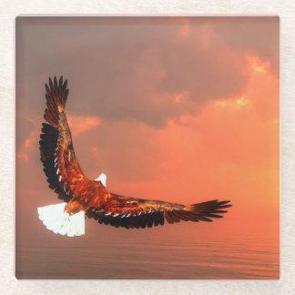 Posavasos De Vidrio Eagle que vuela - 3D rinden