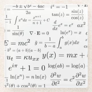Posavasos De Vidrio Ecuaciones del práctico de costa del vidrio de la