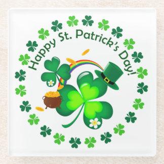 Posavasos De Vidrio El día de St Patrick feliz