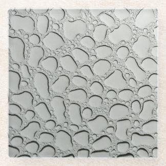 Posavasos De Vidrio Gotas de agua en el tejado de cristal