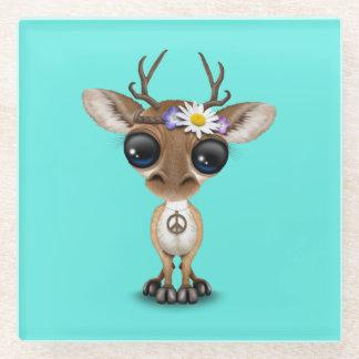 Posavasos De Vidrio Hippie lindo de los ciervos del bebé