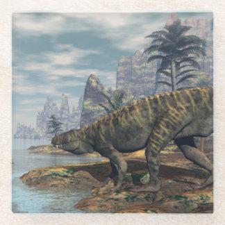 Posavasos De Vidrio Los dinosaurios -3D de Batrachotomus rinden