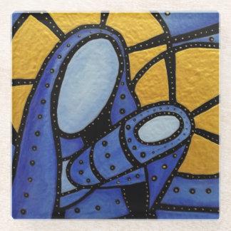 Posavasos De Vidrio Madre y niño abstractos modernos