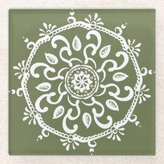 Posavasos De Vidrio Mandala del musgo