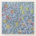 Posavasos De Vidrio Ornamento azul granado William Morris Fruit