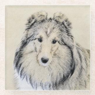 Posavasos De Vidrio Perro pastor de Shetland