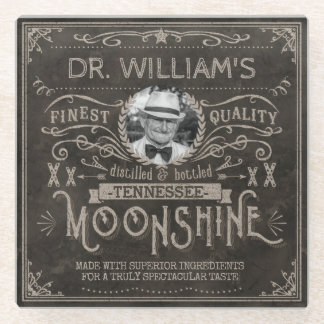 Posavasos De Vidrio Personalizado Brown de la medicina del Hillbilly