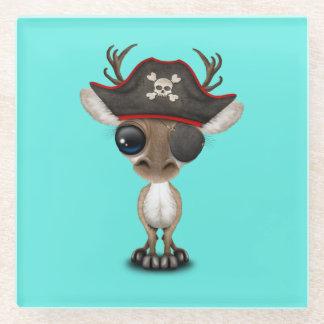 Posavasos De Vidrio Pirata lindo del reno del bebé