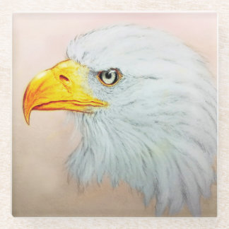Posavasos De Vidrio Práctico de costa de cristal blanco de Eagle,