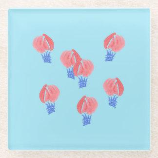 Posavasos De Vidrio Práctico de costa del vidrio de los balones de