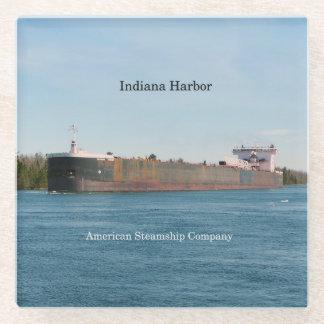 Posavasos De Vidrio Práctico de costa del vidrio del puerto de Indiana