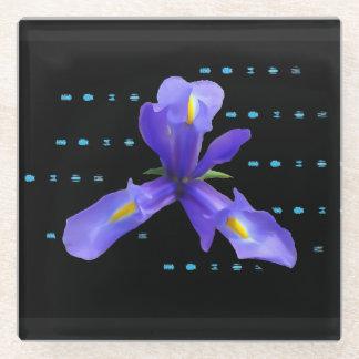 Posavasos De Vidrio Práctico de costa púrpura del vidrio de la flor
