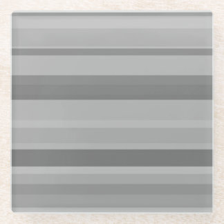 Posavasos De Vidrio Rayas horizontales grises