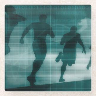 Posavasos De Vidrio Silueta del software del perseguidor del App de la