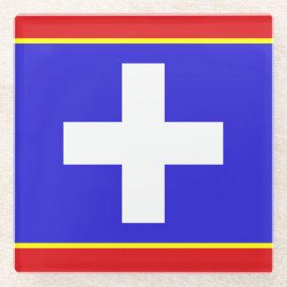 Posavasos De Vidrio símbolo país-región de la bandera central de