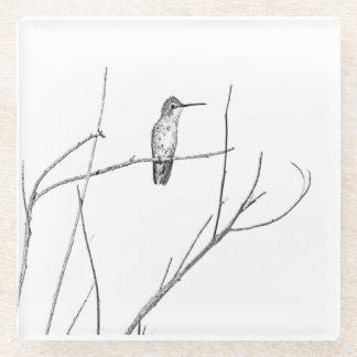 Posavasos De Vidrio Simplemente un colibrí en un palillo