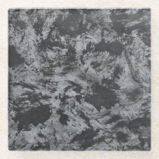 Posavasos De Vidrio Tinta negra en fondo gris